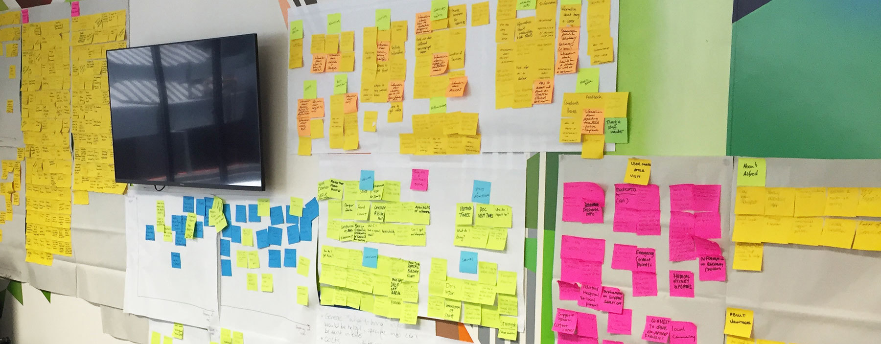 Outputs from a stakeholder workshop documenting user needs and goals